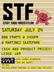 STF BMX Ledge Jam & BBQ Flyer