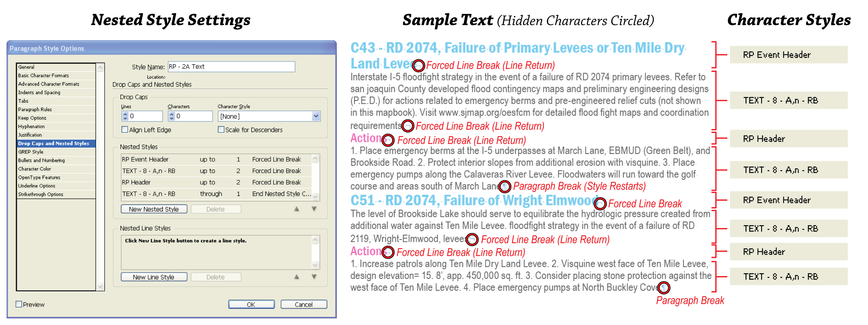 BG Cartography » Nested Styles with InDesign