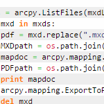 Batch export mxds in a folder